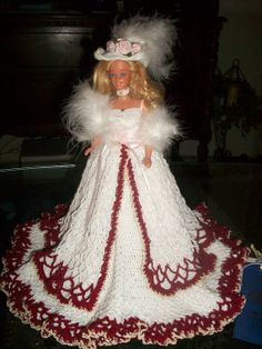 designer crocheted 11 1/2 inch fashion doll by BustlesandBows, $150.00 new Etsy