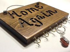 Custom Name 6 hooks Wood Sign Decor Pine by PineBranchDesigns, $10.00