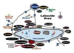 Map of Communities around Lake Chapala
