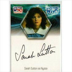 Dr Doctor Who 40th Anniversary Auto Card WA16 Sarah Sutton as Nyssa on eBid United Kingdom