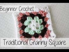 How to Crochet a Traditional Granny Square for Beginners | Bake Shop Blanket Series | Sewrella - YouTube