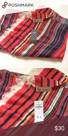NWT! Abercrombie & Fitch multicolored scarf NWT! Abercrombie & Fitch multicolored scarf with white tassels. Big enough to use as a sarong, perfect for summer! Abercrombie & Fitch Accessories Scarves & Wraps