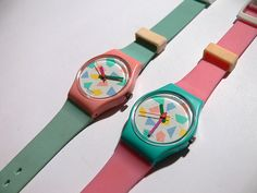 1988 swatch-- way too expensive for a cheap plastic, ugly watch, lol