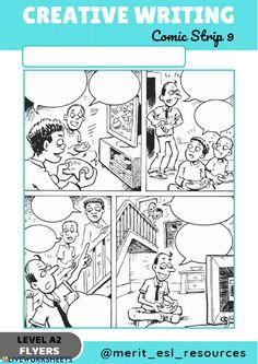 Comic Strip - Write a story - Interactive worksheet Picture Story Writing, Writing Words, Writing Lessons, Writing Practice, Writing Skills, Creative Writing Pictures, Creative Writing Worksheets, All About Me Preschool, Preschool Writing