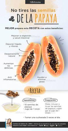 No tires las semillas de papaya