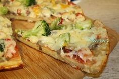 PIZZA LA TIGAIE - Flaveur Pizza, Cheddar, Quiche, Broccoli, Mashed Potatoes, Cauliflower, Food And Drink, Cooking Recipes, Vegan