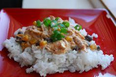 Crockpot Chicken with Black Beans