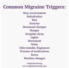Foods For Migraines, Types Of Migraines, Migraine Triggers, Migraine Diet, Migraine Pain, Chronic Migraines, Migraine Relief, Chronic Pain, Chronic Illness