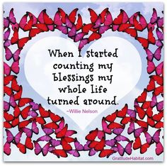 Many blessings to count. Thank you. Visit us at: www.GratitudeHabitat.com #gratitude #blessings-quote