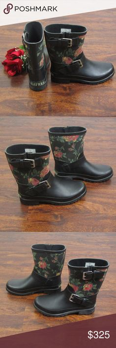 Lauren Ralph Lauren Floral Mid Calf Rain Boots These cute rain boots are in excellent condition! As always offers and bundles are welcome. Feel free to add one or more items to a bundle for a private discount offer!!! Lauren Ralph Lauren Shoes Winter & Rain Boots