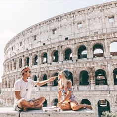 chow down on authentic Italian pizza in front of Roman ruins.
