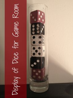 Vase of Dice for Game Room