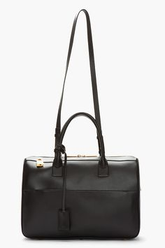 55a98e380224 SAINT LAURENT Black Leather Bo Rive Gauche Tote...perfection #black  #blackleather