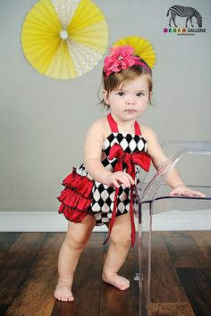 Girls sunsuit ruffle romper Shes so Fancy by LoveTayBoutiqueLLC, $40.00