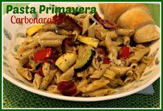 Sweet Tea and Cornbread: Pasta Primavera Carbonara!