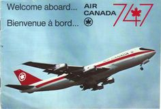 Airlines Past & Present: Air Canada Boeing 747 Introduction Early & Vintage Air Canada Stewardess Flight Attendant Uniform Early International Airlines, Vintage Travel Posters, Vintage Airline, Old Logo, Jet Engine, Commercial Aircraft, Boeing 747, Old Ads, Flight Attendant