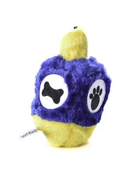 Copa Judaica Chewish Treat 4 by 65Inch Hannukah Dreidel Squeaker Plush Dog Toy Large Multicolor ** More info could be found at the image url. (Note:Amazon affiliate link)