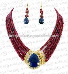 Ruby & Blue Sapphire Choker Necklace Set Silver in Carson, View buy necklace houston, Ruby & Blue Sapphire Necklace Product Details from BELLO JEWELS PVT LTD on Alibaba.com