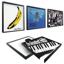 Record collecting dad? This Picture Frame for Vinyl Records is perfect