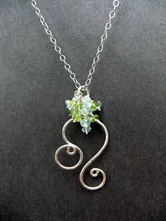 Leo Zodiac Astrology Sign Gemstone Cluster The Lion Necklace Sterling Silver Lime Green Peridot Pale Blue Aquamarine Birthstones. $45.00, via Etsy. , more cool astrology photos and memes here http://www.astrologylove.net