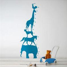 Animal Tower väggdekoration - blå - Ferm Living