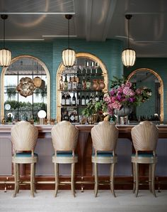 This opening is yet another reason to celebrate Miami Beach's buzzy cultural melting pot. The brainchild of David Grutman and Pharrell Williams, this chic boutique hotel will offer up high-octane experiences synonymous with its namesake. With these two at the helm, expect a spirited and energic dining scene in Strawberry Moon, partnered with an epic soundtrack. Interior design by Ken Fulk. Ken Fulk, Miami Living, Meeting Of The Minds, Lobby Lounge, Rooftop Restaurant, Good Environment, Higher Design, Hotel S