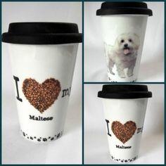 Travel-Coffee-Mug-I-Love-My-Maltese-Dog-White-Ceramic-Silicone-Lid-12-oz