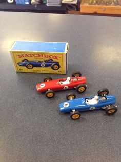 Matchbox Lesney B R M F1 Racing Car 52 5 Labels RARE Red Blue Original Box   eBay