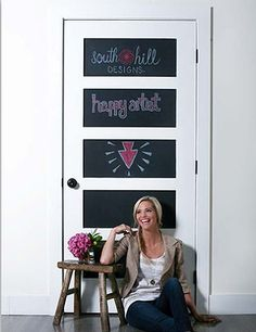 Love the chalkboard paint on the door. Direct Sales Companies, Create Your Own Story, South Hill Designs, Starting Your Own Business, House Party, How To Find Out, Chalkboard Paint, Discovery, Invitation