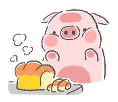 A warm and sweet love story of a pink pig Pinko and a blue duck Luli. Cats And Cucumbers, Pig Drawing, Kawaii Illustration, Mini Pigs, Cute Piggies, Chibi Characters, Cute Penguins, Cute Dogs And Puppies, Animal Sketches
