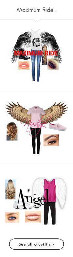 """Maximum Ride..."" by lola0413 ❤ liked on Polyvore featuring Wolford, K-Way, Keds, Disney, Lancôme, NIKE, WigYouUp, MDMflow, Joseph and Urban Pipeline"
