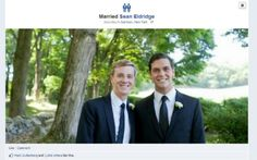 A new Facebook feature allows same-sex couples to declare their marriage status on the site with same-sex icons.
