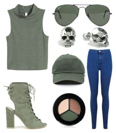"""""""•Nothing but smiles•"""" by gabrielle-dixon ❤ liked on Polyvore featuring Nly Shoes, Miss Selfridge, Ray-Ban, Kasun and Smashbox"""