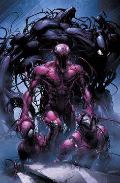 Carnage-vs-Spiderman-and-Iron-Man.jpg 900×1,367 pixeles