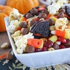 Monster Munch- a sweet Halloween snack mix that takes exactly 2.4 minutes to make.