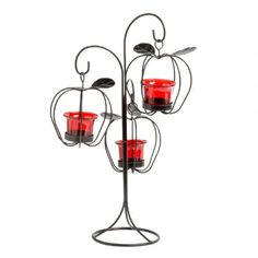 One of my favorite discoveries at ChristmasTreeShops.com: Harvest Apple Candleholder Tree