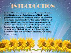 Indian Flower-Manufacturer of artificial flower, exporter of artificial ...
