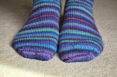 Beginner sock knitting - basic 4ply sock - here's a pair I knitted earlier!