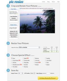 PicResize: utilidad web gratuita para editar y aplicar efectos a tus fotografías