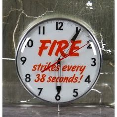 """fully functional c. 1950's wall mount home insurance agency advertising """"bubble"""" illuminated analog clock with all original electric movements"""