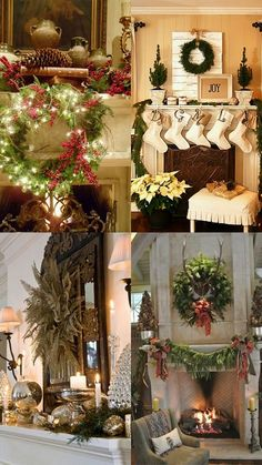 A Whole Bunch Of Christmas Mantels 2013 - Christmas Decorating -