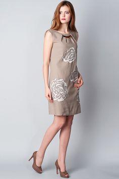 x Платье серо-оливкового цвета с декором Ruta-S