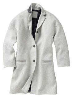 Drop-shoulder coat