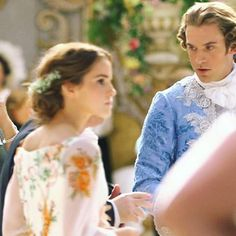 """""""Beauty and the Beast"""" 2017-  Dan Stevens & Emma Watson -    #princeadam  #bella #danstevens Disney costumers are the best in the world. Look at those colors."""