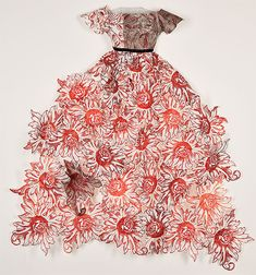 ℘ Paper Dress Prettiness ℘ art dress made of paper by Leonie Oakes - printmaker - Tasmanian artist