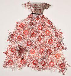 ℘ Paper Dress Prettiness ℘ art dress made of paper by Leonie Oakes - printmaker - Tasmanian artist