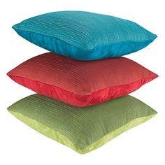 Solid Colored Half Textured Decorative Pillows at Big Lots.