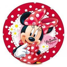 disco cialda per decorazioni torta festa a tema minnie 03 - Party e Balloon - Addobbi Feste per Bambini - Matrimoni - Lanterne Speciali