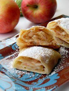 Placinta cu mere poate fi si un adevarat medicament Romanian Food, Romanian Recipes, Homemade Sweets, Pastry And Bakery, Vegan Desserts, Apple Pie, Deserts, Good Food, Food And Drink