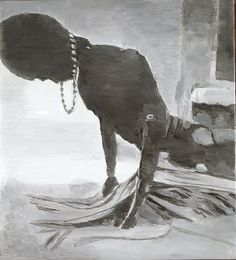 """Luc TUYMANS, """"G.I. Joe"""", 1996 - Huile sur toile, 68,5 x 62 cm, Paris, Centre Pompidou, musée national d'Art moderne/Centre de création industrielle"""